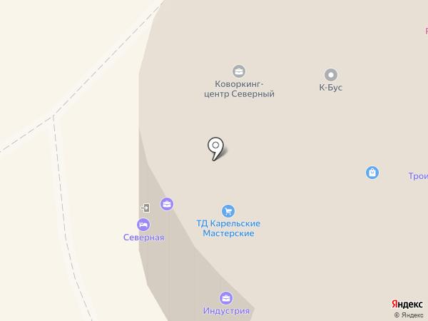 Кабинет турецкого массажа на карте Петрозаводска
