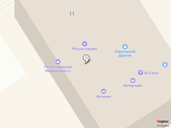 Санкт-Петербургский оконный завод на карте Петрозаводска