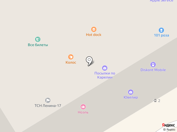 Ноэль на карте Петрозаводска
