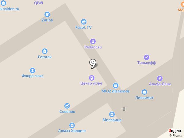 Магазин сувениров на карте Петрозаводска