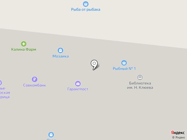 Библиотека №3 им. Н. Клюева на карте Петрозаводска