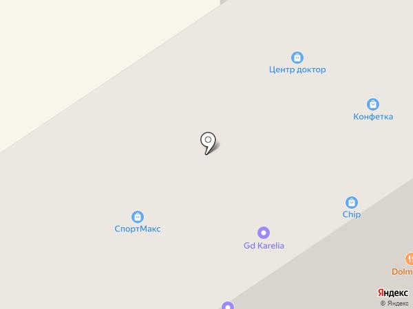 Нашили на карте Петрозаводска