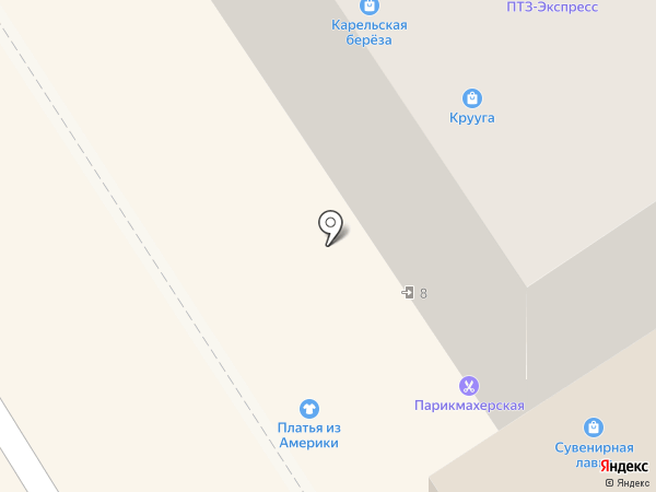 Сувенирная лавка на карте Петрозаводска