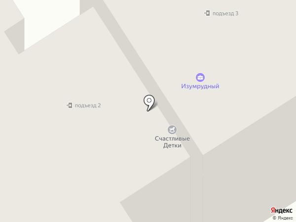 Изумрудный на карте Петрозаводска