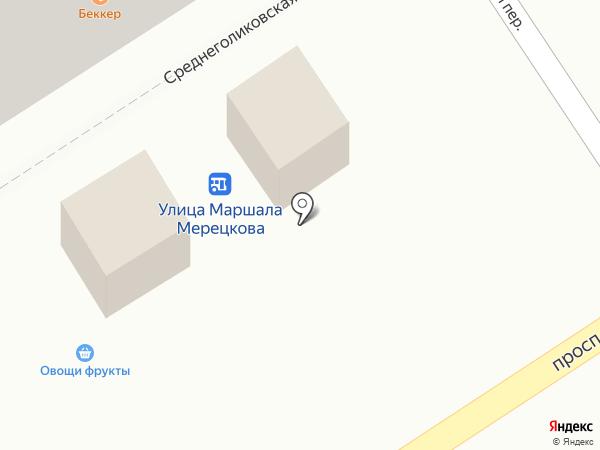 Киоск по продаже фастфудной продукции на карте Петрозаводска