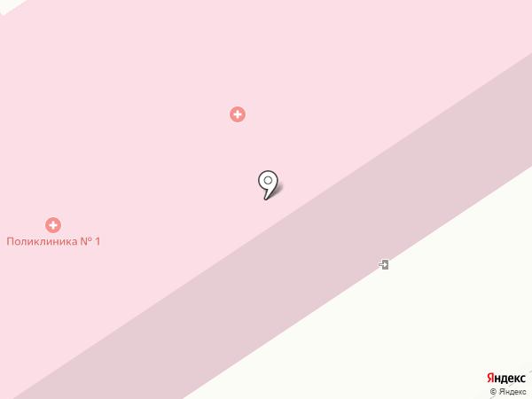 Городская поликлиника №1 на карте Петрозаводска