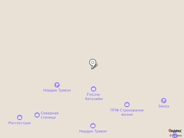 Корела на карте Петрозаводска