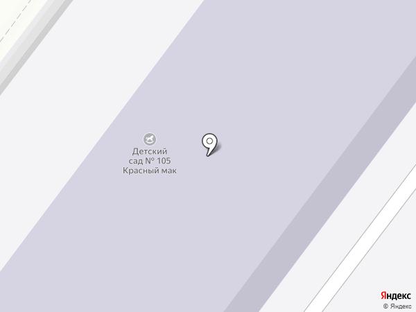 Детский сад №105, Красный мак на карте Брянска