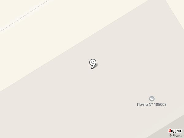 Почтовое отделение №3 на карте Петрозаводска
