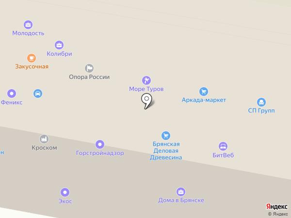 Институт повышения квалификации на карте Брянска