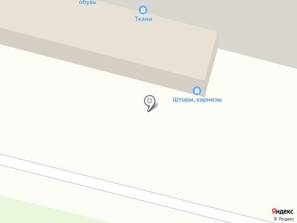 Магазин тканей на карте Брянска