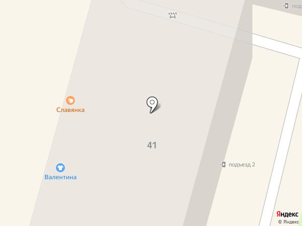 Славянка на карте Брянска