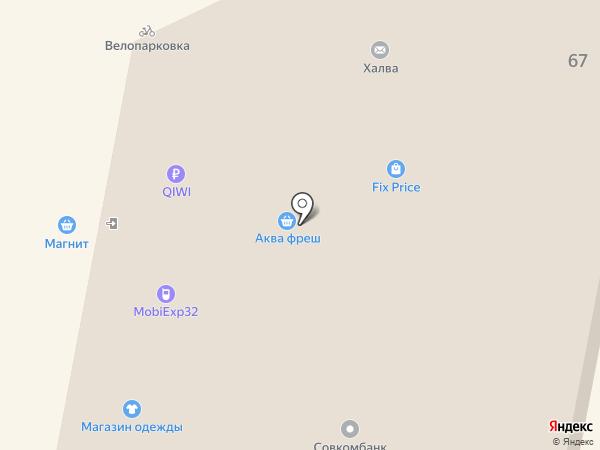 Ё на карте Брянска