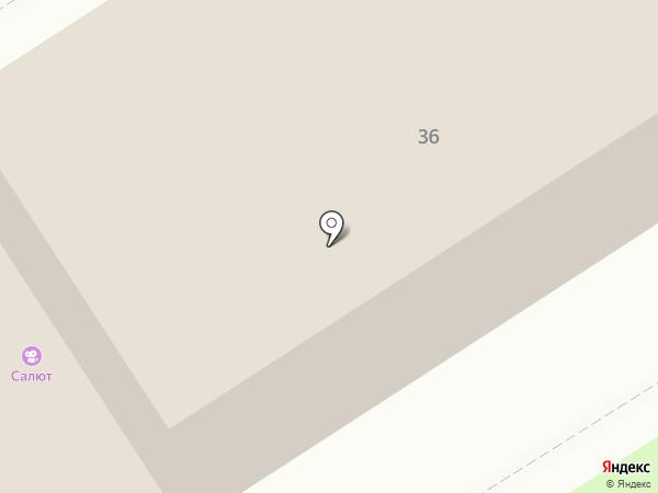 Салют на карте Брянска