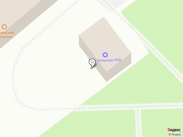 Вокзал Брянск-1 Орловский на карте Брянска