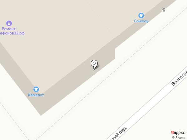 Школьник на карте Брянска