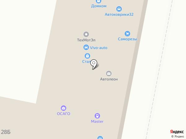 Бинкос на карте Брянска