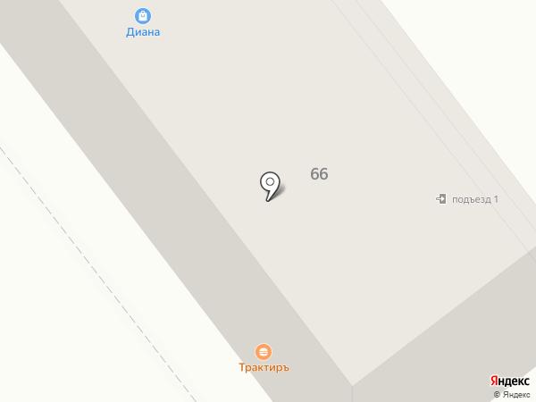 Диана на карте Брянска