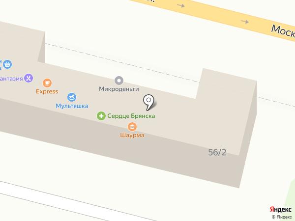 Банкомат, Райффайзенбанк на карте Брянска
