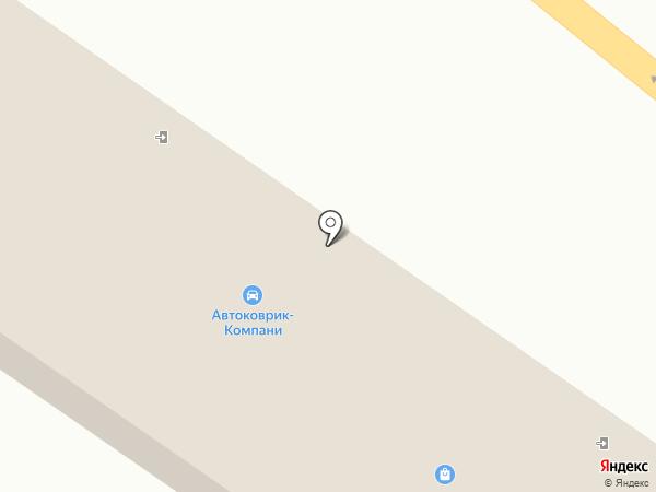 Автоковрик на карте Брянска