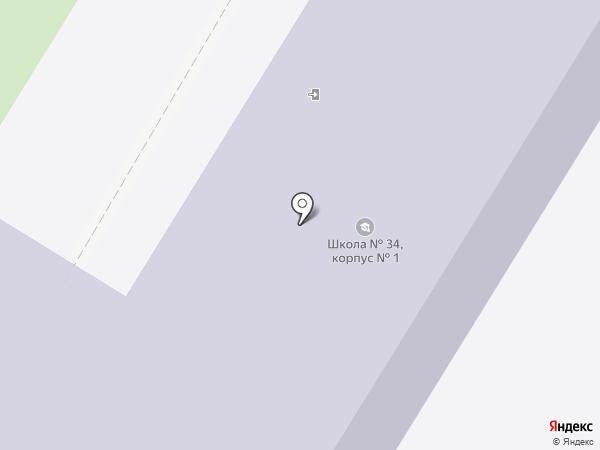 Средняя общеобразовательная школа №34 на карте Брянска