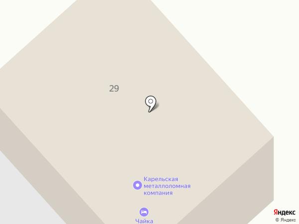 Чайка на карте Петрозаводска