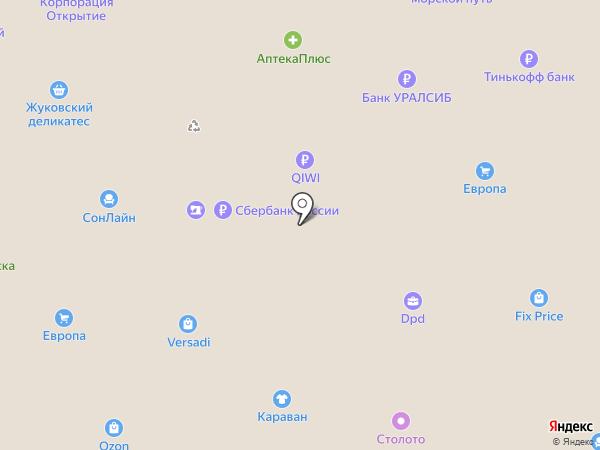 Мебельград на карте Брянска