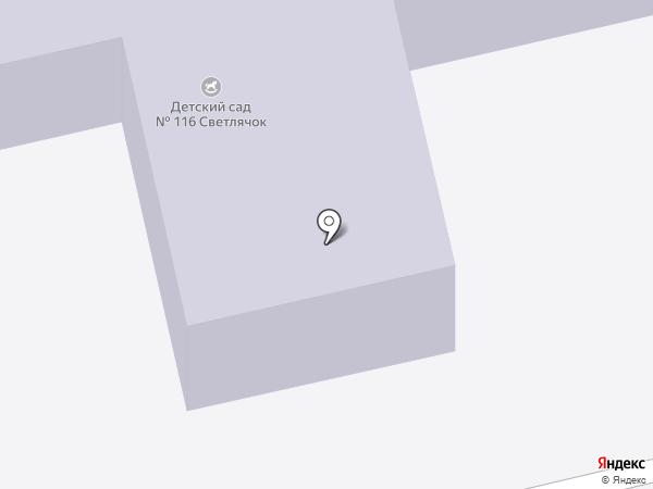 Детский сад №116 на карте Брянска