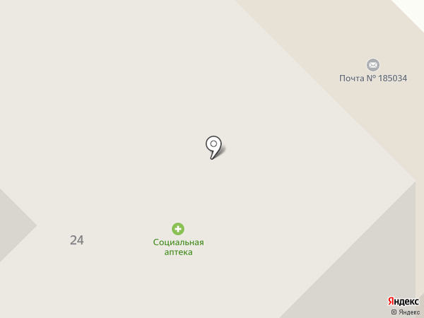 ЧАЙКА-24, ТСЖ на карте Петрозаводска