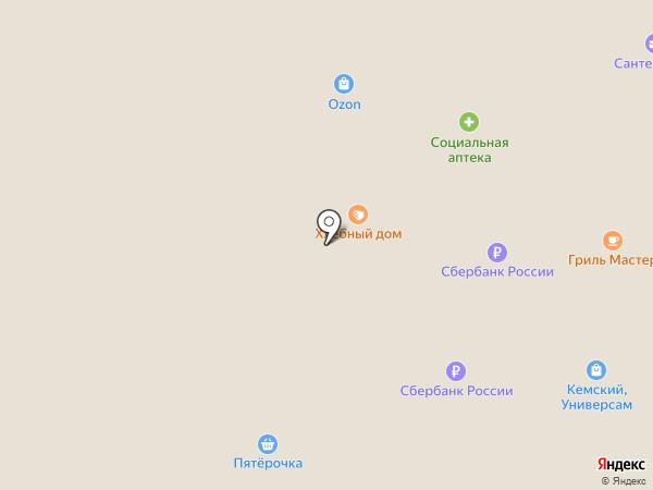 Кемский на карте Петрозаводска