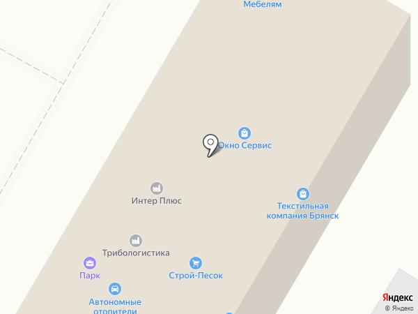 Брянскгеология на карте Брянска