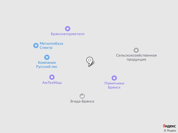 Брянсквторчермет на карте Брянска