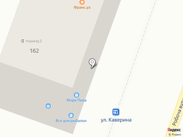 Сорока на карте Днепропетровска