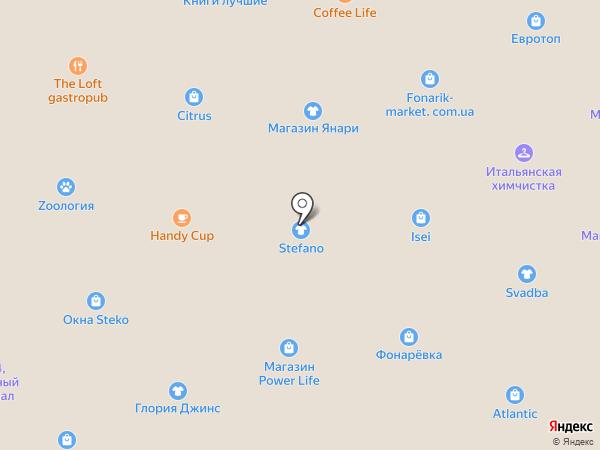 Cross на карте Днепропетровска