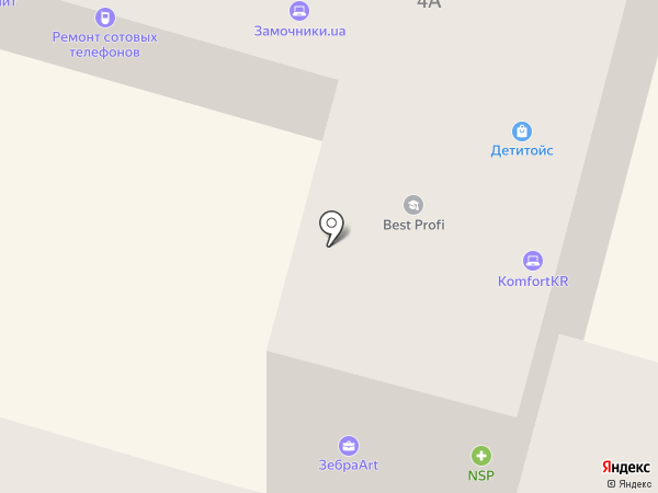 Зебра art на карте Днепропетровска
