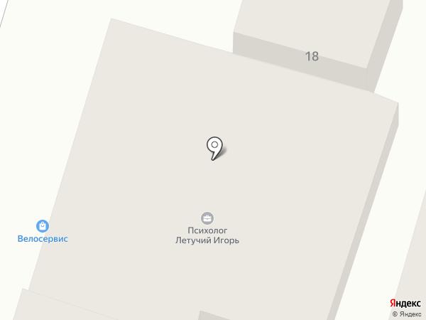 Велосервис на карте Днепропетровска