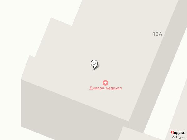 Адастра на карте Днепропетровска