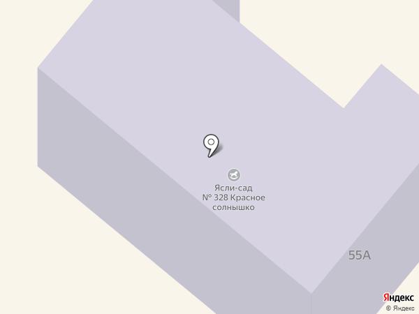 Дошкільний навчальний заклад №328, Червоне сонечко на карте Днепропетровска