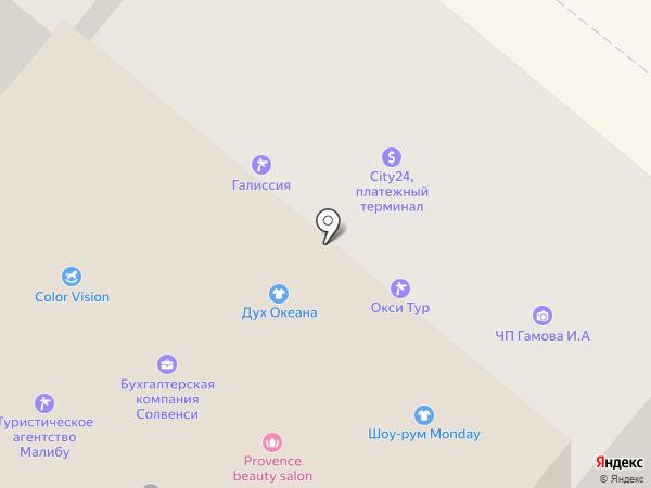 Екатерининский на карте Днепропетровска