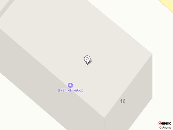 Днепр-Прибор на карте Днепропетровска