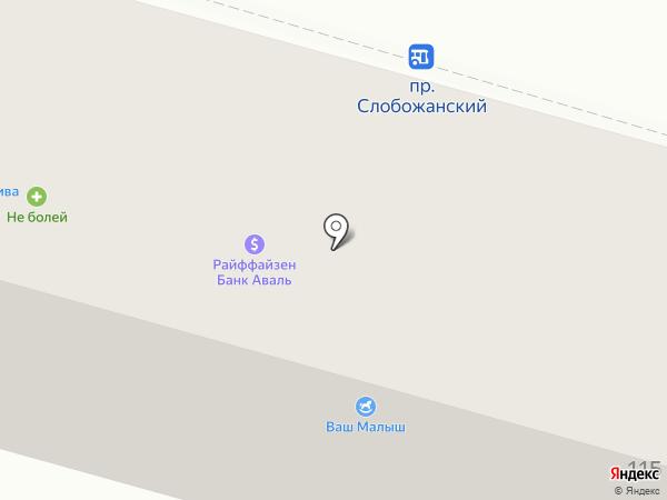 Ідея Банк на карте Днепропетровска