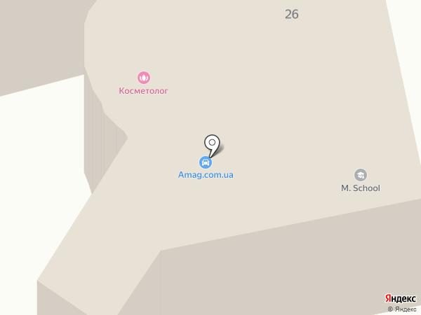 Самарська районна виконавча дирекція Дніпропетровського обласного відділення фонду соціального страхування з тимчасової втрати працездатності на карте Днепропетровска