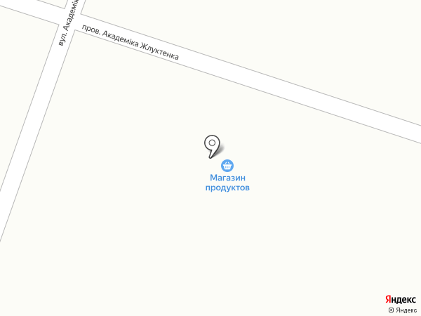 Продуктовый магазин на карте Новомосковска