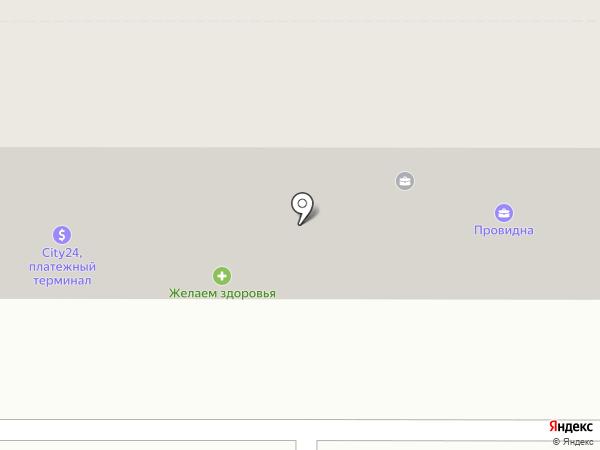 Оселя Буд на карте Новомосковска