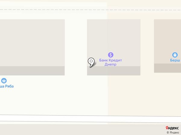 Банкомат, Банк Кредит Днепр на карте Новомосковска