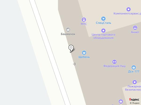 Акваточка на карте Твери