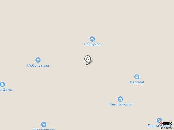 Трио на карте Твери