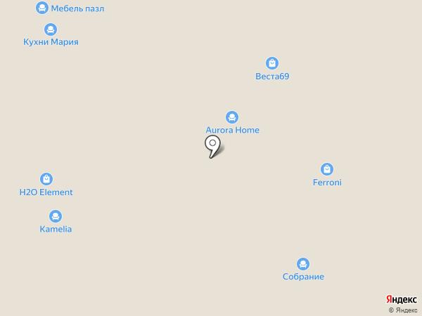 Зеленая лавка на карте Твери