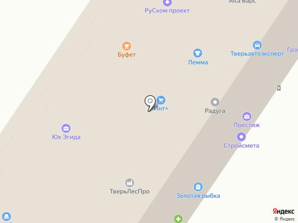 Золотая рыбка на карте Твери