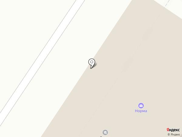 Чайка на карте Твери